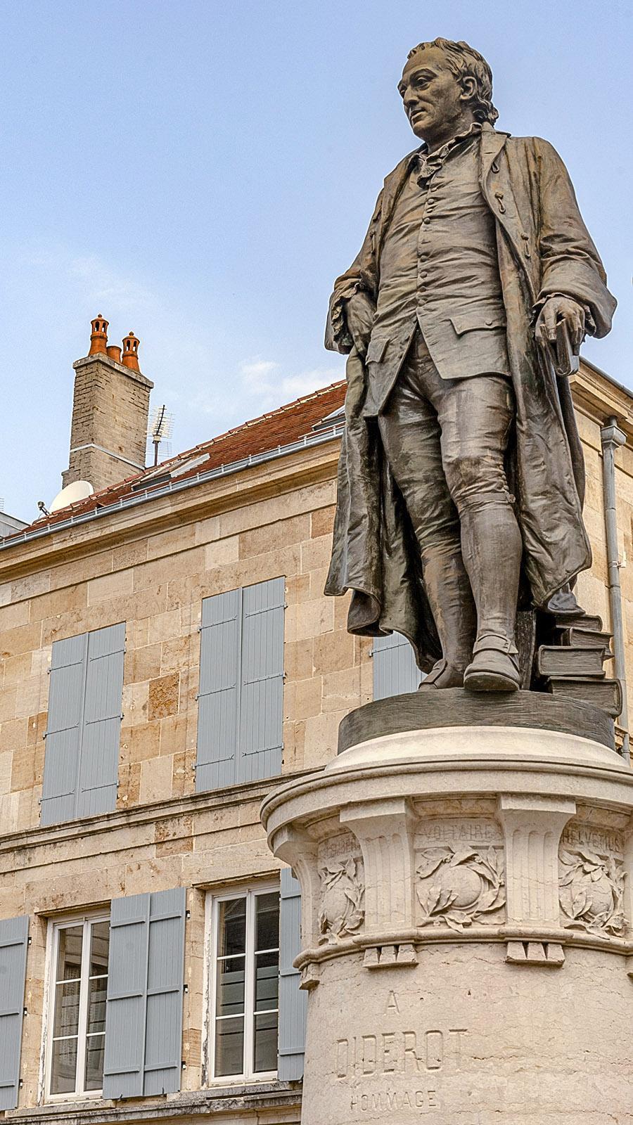 Diderot in Langres. Foto: Hilke Maunder