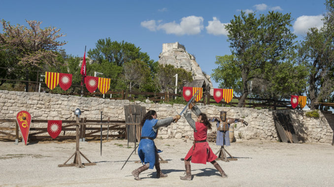 Les Baux-de-Provence: Ritterspiele. Foto: Hilke Maunder