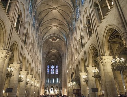 Paris_Kathedrale Notre Dame_Kirchenschiff ©Hilke Maunder