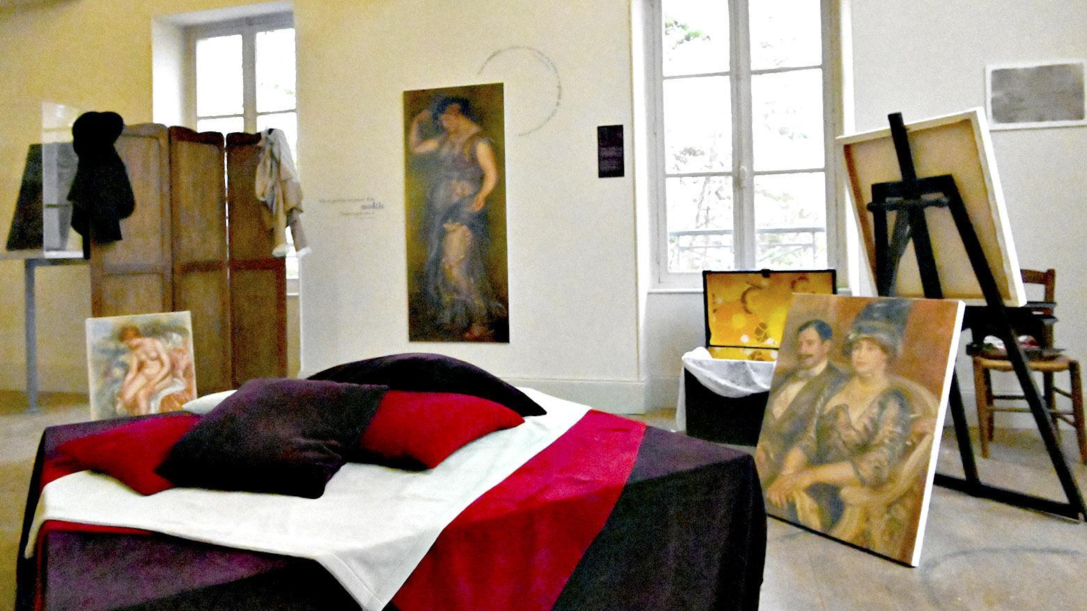 Essoyes: das Atelier von Renoir im Obergeschoss des Atelierhauses. Foto: Hilke Maunder