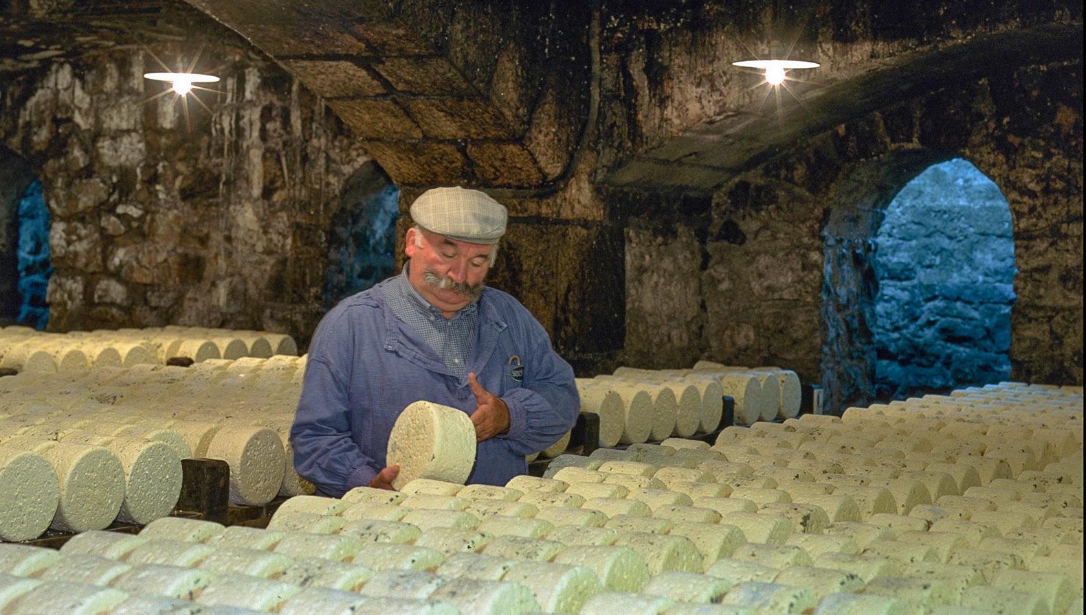 Im Käse-Keller des Roquefort. Foto: Pressebild des CRT Midi-Pyrénées/Dominique Viet