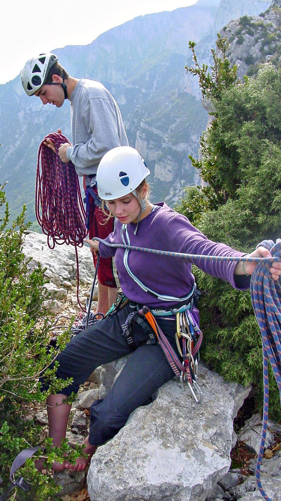 Gorges du Verdon: Kletterer an der Routes des Crêtes. Foto: Hilke Maunder