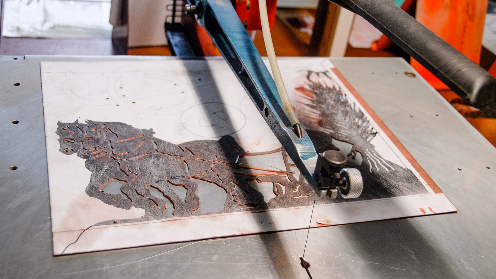 In der Werkstatt des Atelier de la Girouetterie: Foto. Hilke Maunder