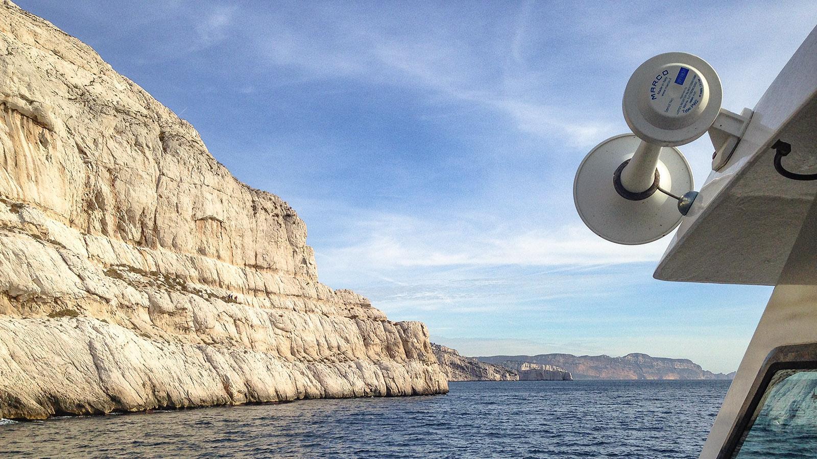 Calanques von Marseille: Blick von Callelongue gen Osten. Foto: Hilke Maunder