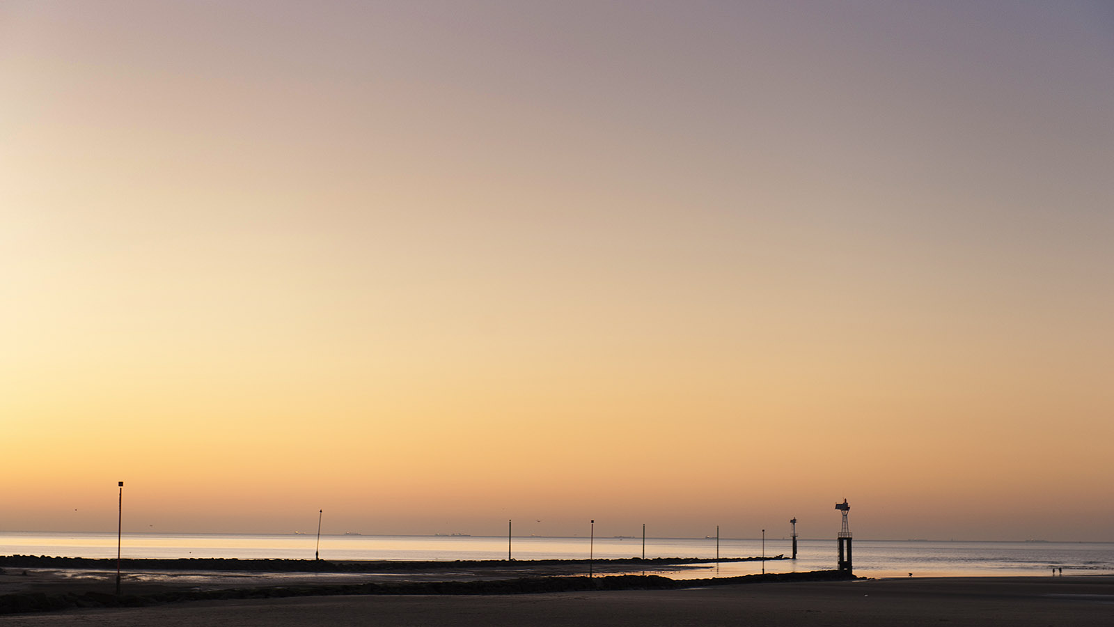 Sonnenuntergang in Trouville. Foto: Hilke Maunder