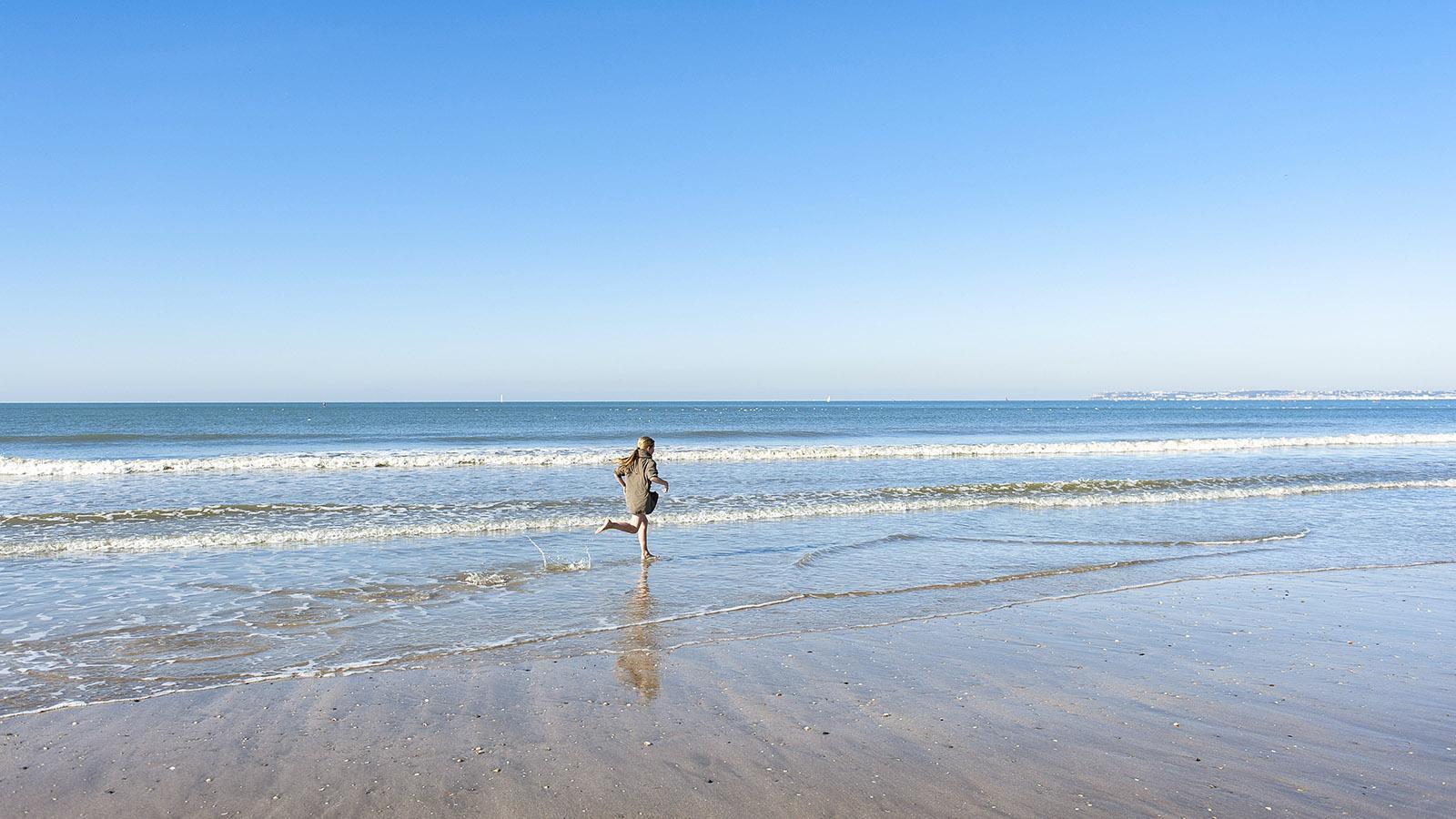Der weite, breite Strand von Trouville. Foto: Hilke Maunder