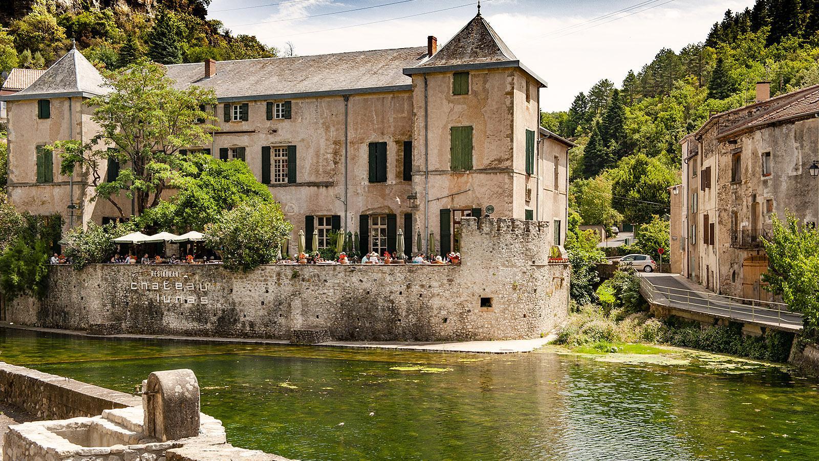 Abstecher vom Orb: Einen Schlenker wert: das Schlossrestaurant von Lunas. Foto: Hilke Maunder