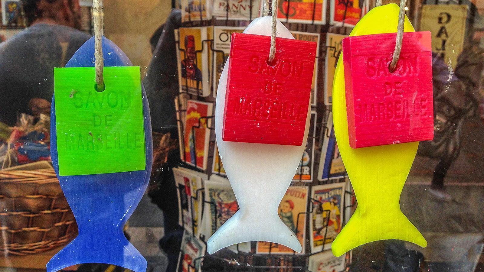 Savon de Marseille im Souvenirshop. Nur der Name erinnert an die echte Seife. Foto: Hilke Maunder