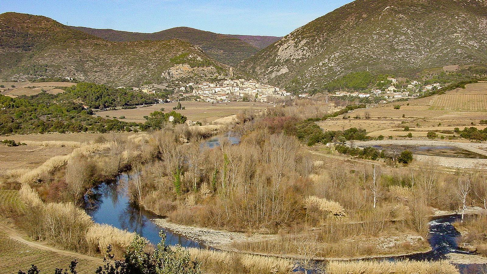 Das Tal des Orb bei Roquebrun. Foto: Hilke Maunder