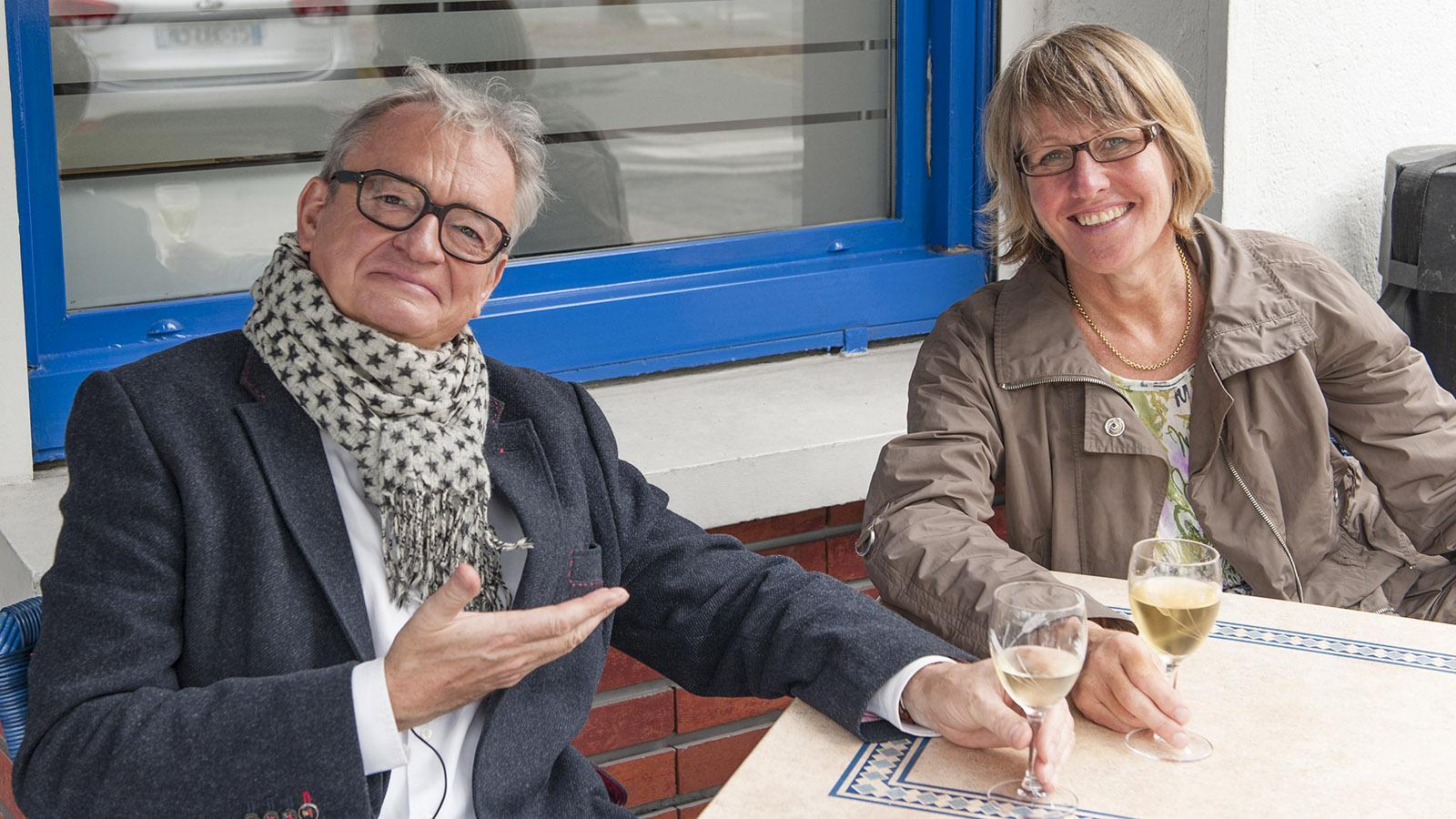 Hilke Maunder mit Jean-Luc Petitrenaud in Le Havre. Foto: Hilke Maunder
