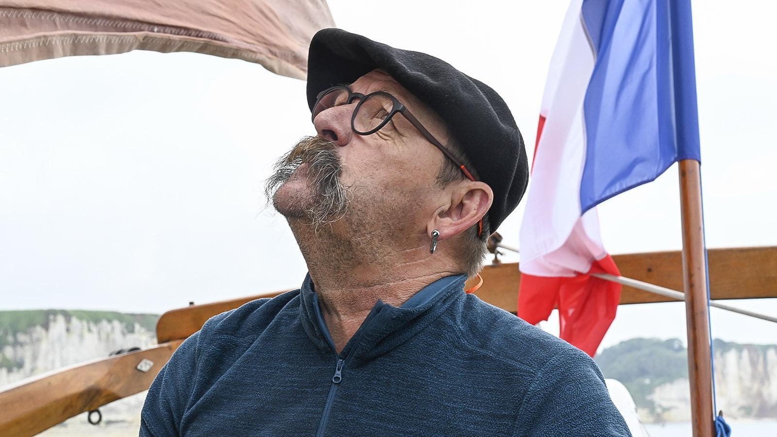 """Will lieber """"Asterix"""" genannt werden: Lionel, der Kapitän der Milpat. Foto: Hilke Maunder"""