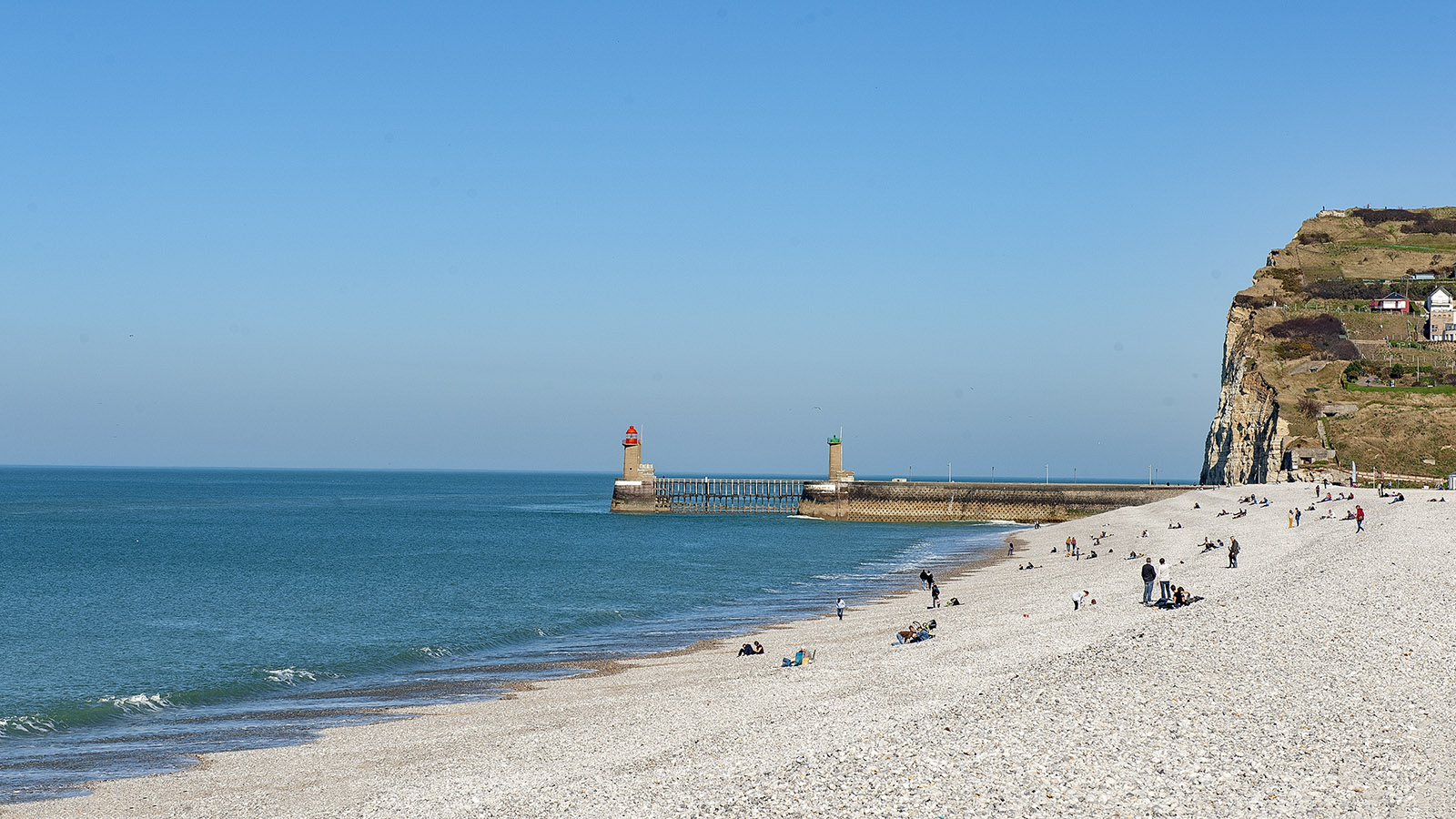Der Strand von Fécamp. Foto: Hilke Maunder