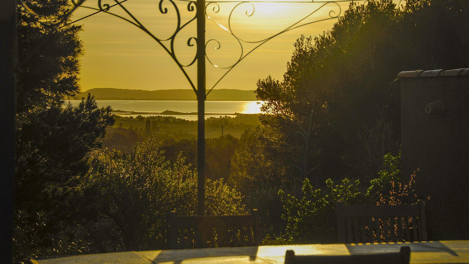 La Milhauque: Blick auf den Étang de Bages bei Peyriac-sur-Mer. Foto: Hilke Maunder