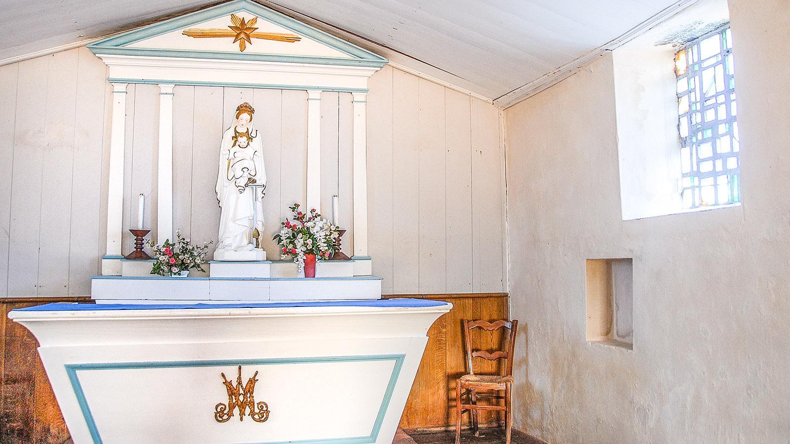 Île d'Yeu: Bei La Meule: Notre-Dame de Bonne Nouvelle. Foto: Hilke Maunder
