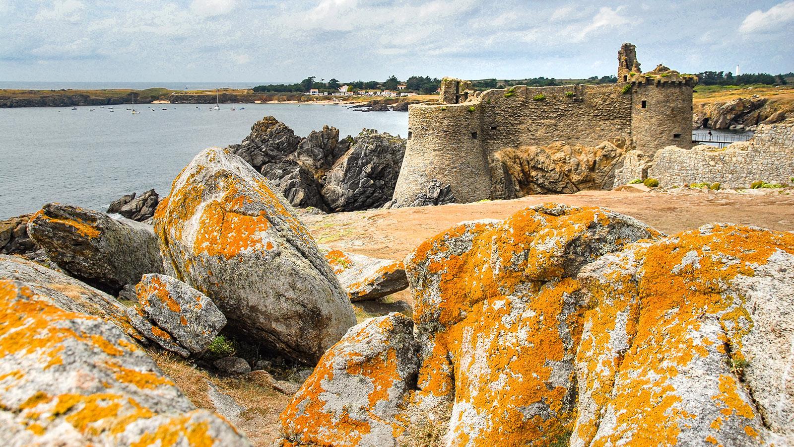 Île d'Yeu: Beim Vieux Château mit Blick auf die Plage des Sabias. Foto: Hilke Maunder