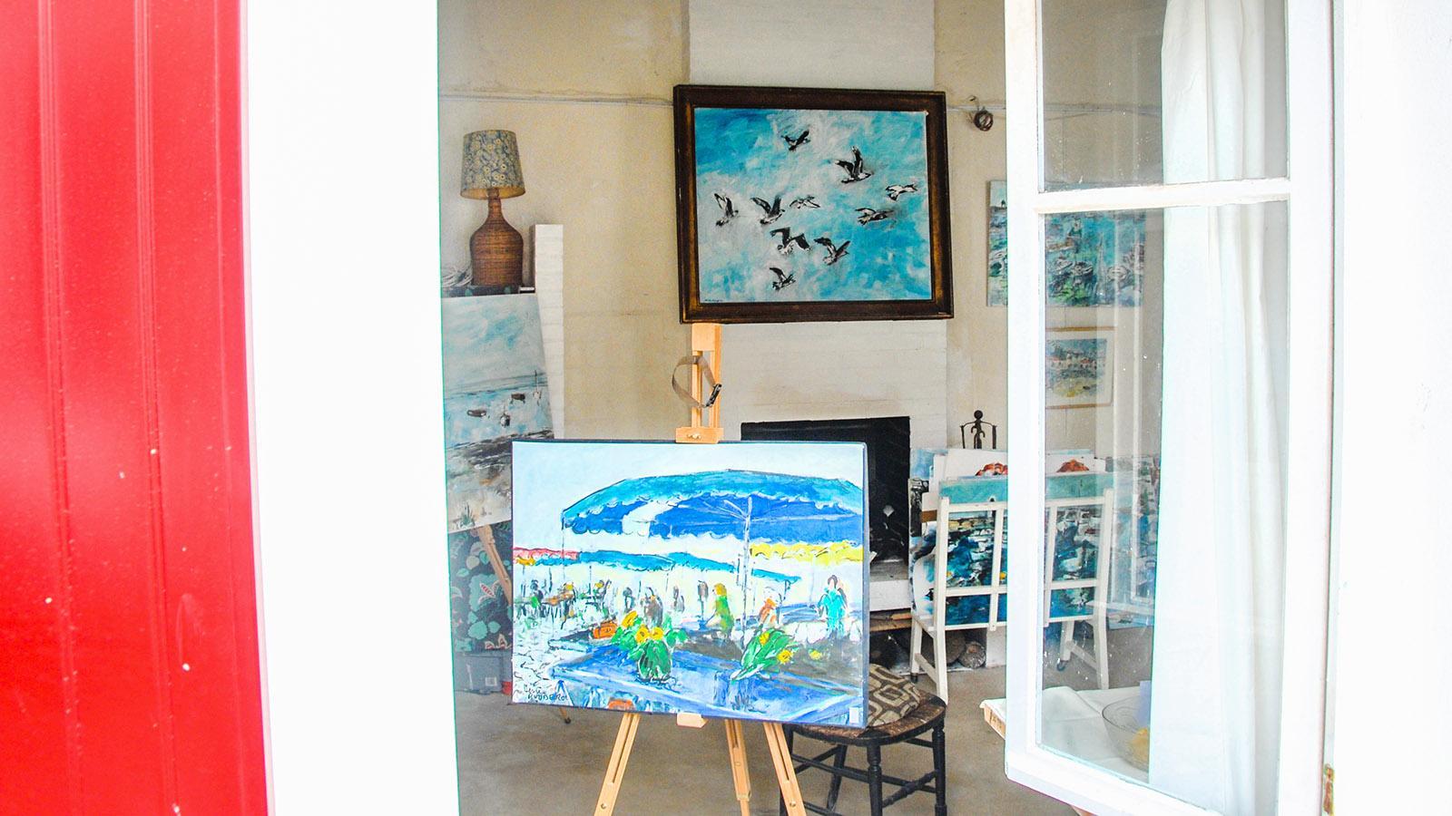 Île d'Yeu: Das Atelier von Henri Rouberol in Port-Joinville. Foto: Hilke Maunder