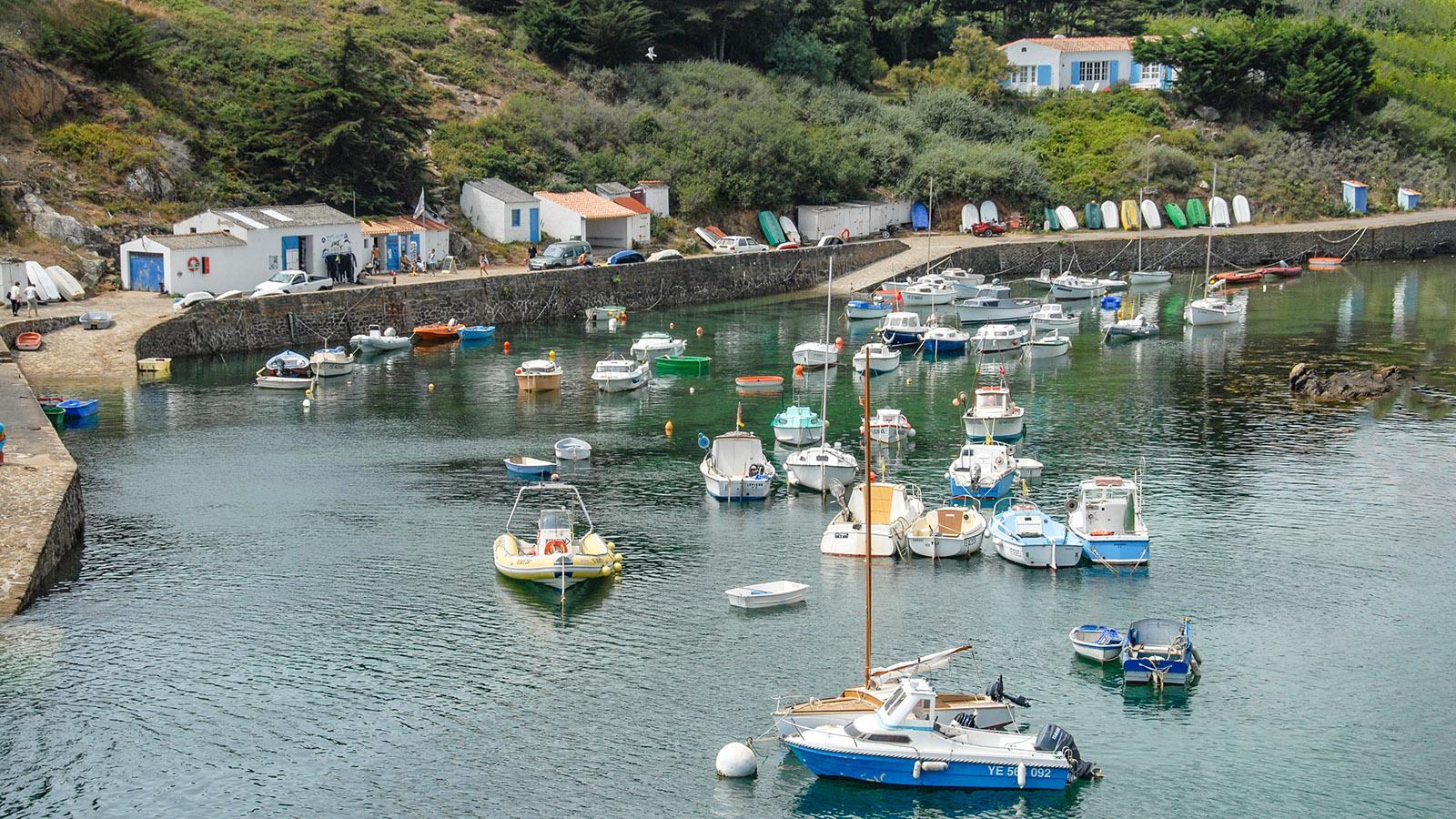 Île d'Yeu: Port de la Meule. Foto: Hilke Maunder