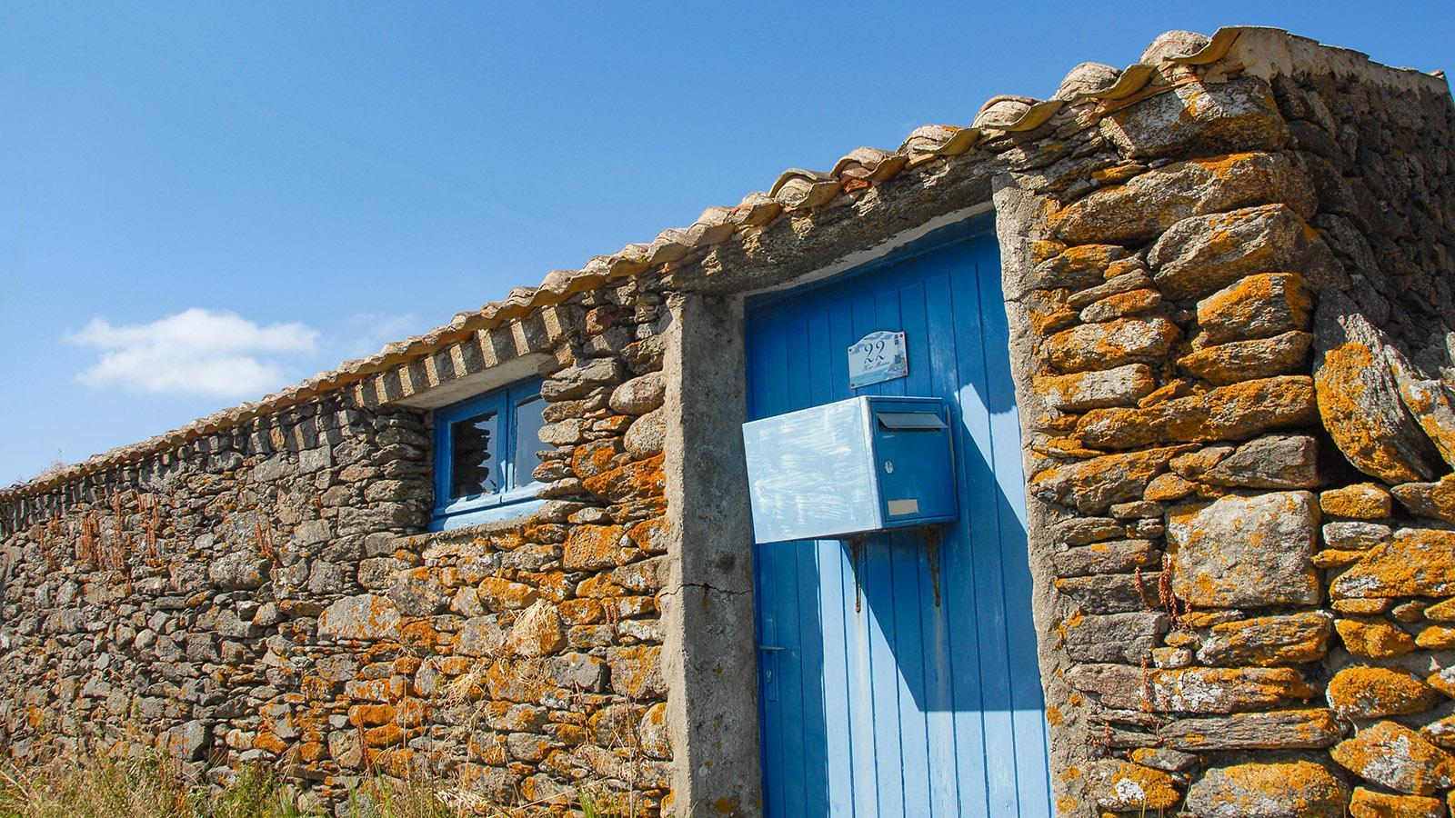 Île d'Yeu: Traditionelles Fischerhaus bei Cadouère. Foto: Hilke Maunder