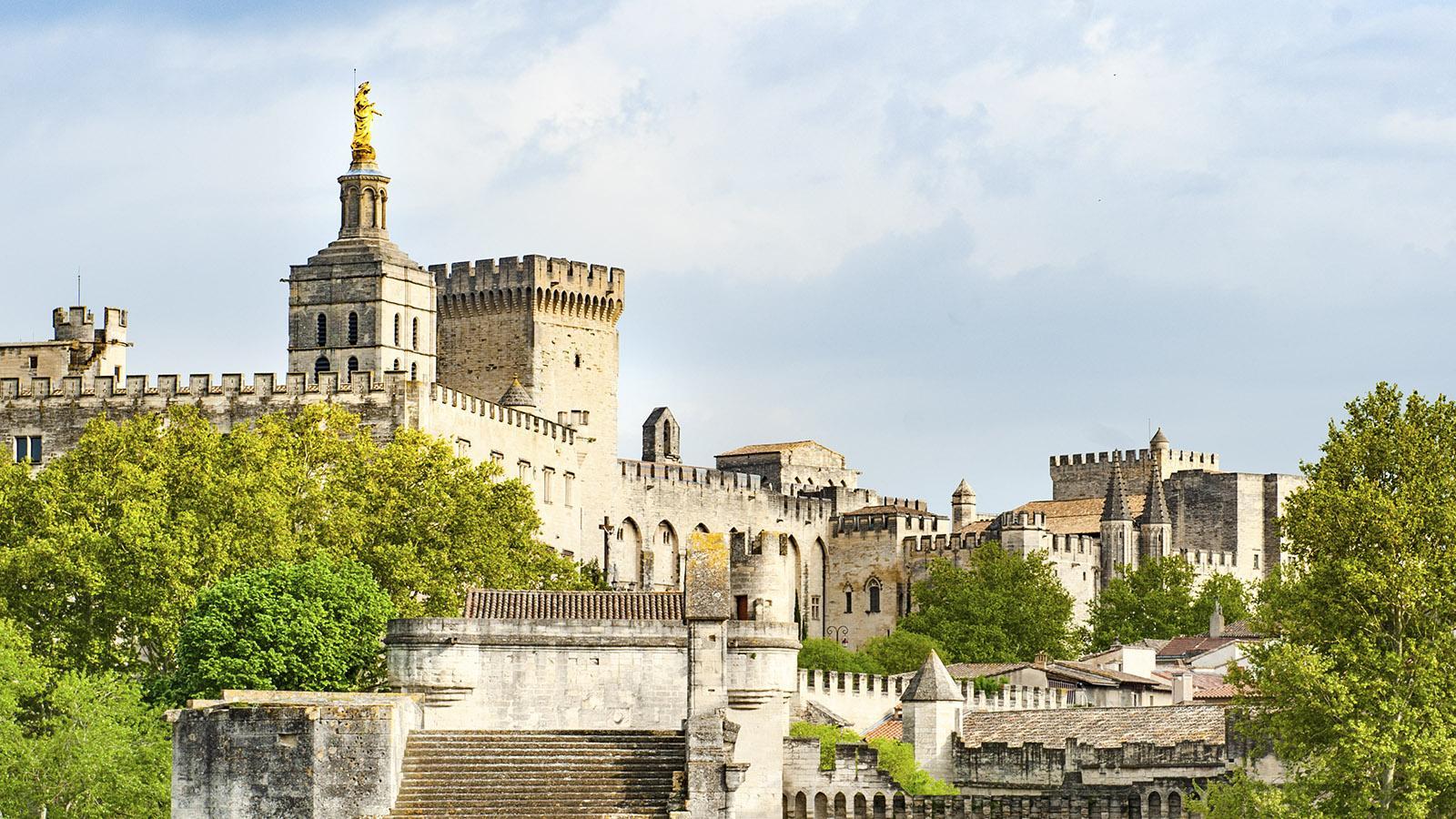 Die Skyline von Avignon von der berühmten Brücke. Foto: Hilke Maunder