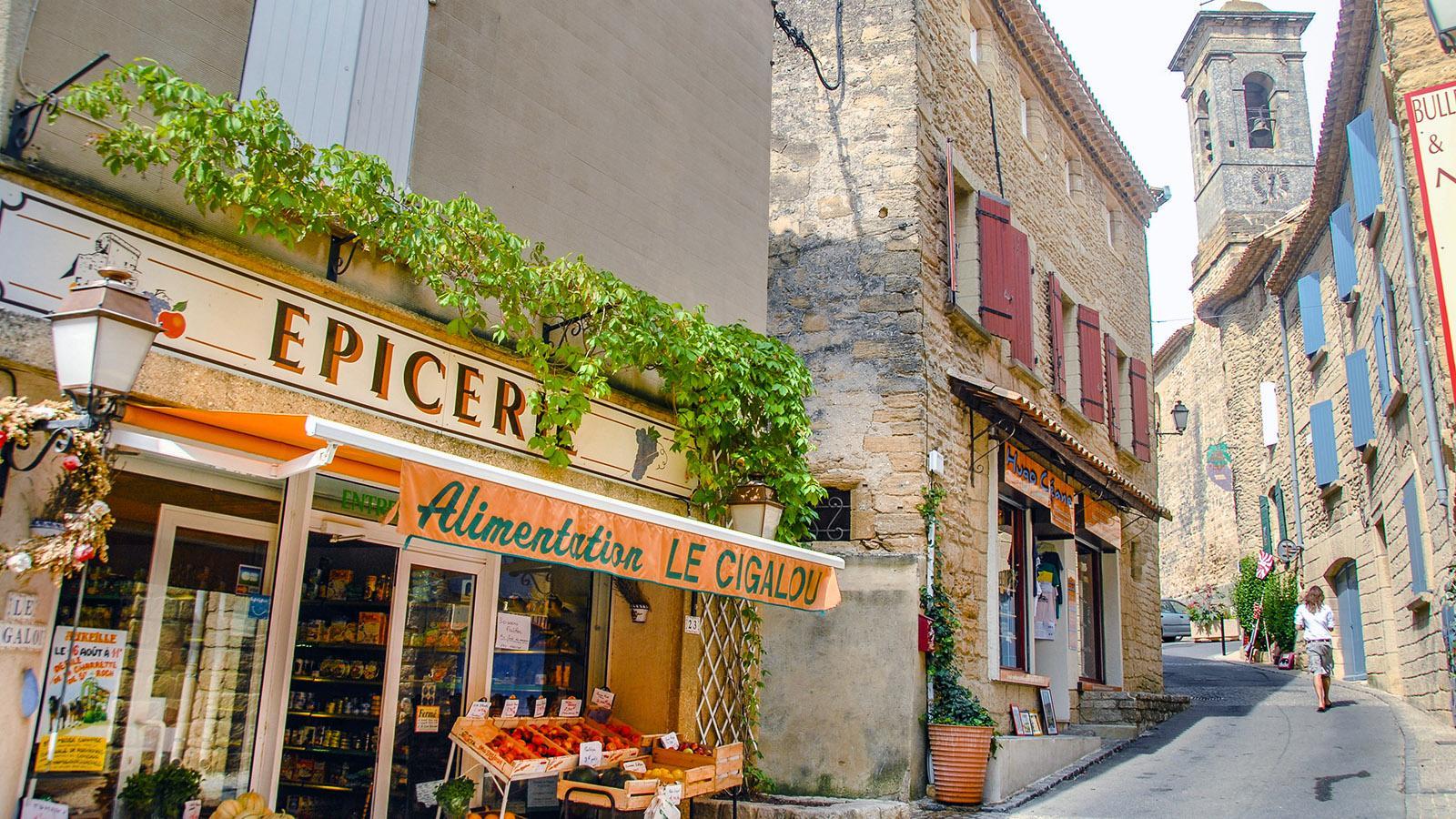 Châteauneuf-du-Pape, Épicerie. Foto: Hilke Maunder