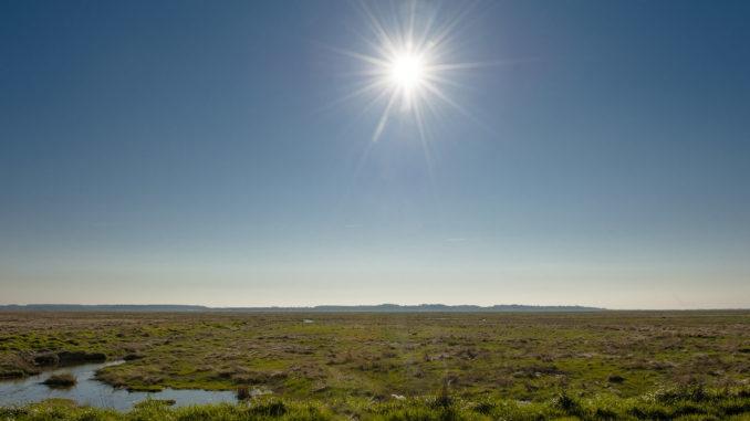 Maritimie Urlandschaft: die Bucht der Somme. Foto: Hilke Maunder