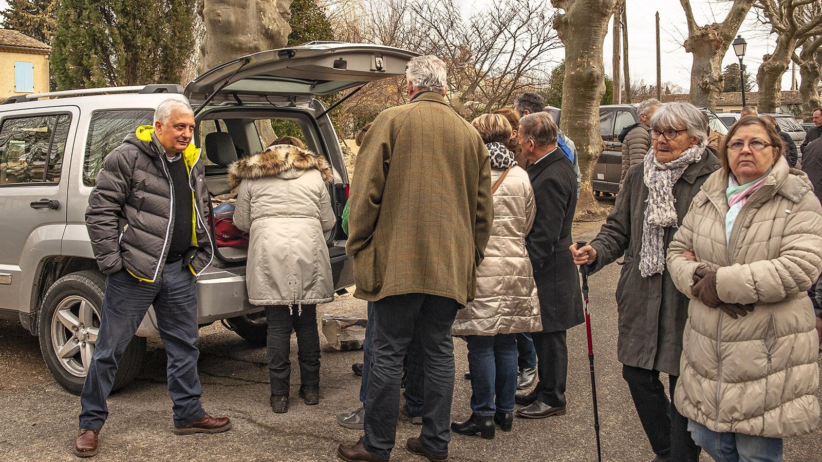 Der Trüffelmarkt von Richerenches. Foto: Hilke Maunder