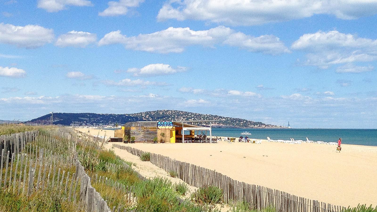 Blick auf Sète mit Strand und Mont Saint-Clair