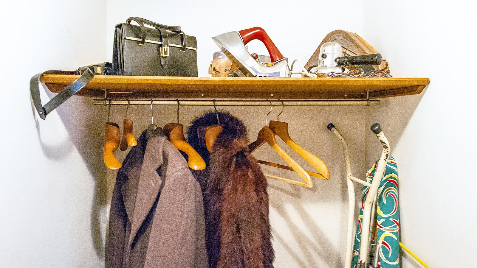 Appartement Témoin: Die Garderobe. Foto: Hilke Maunder