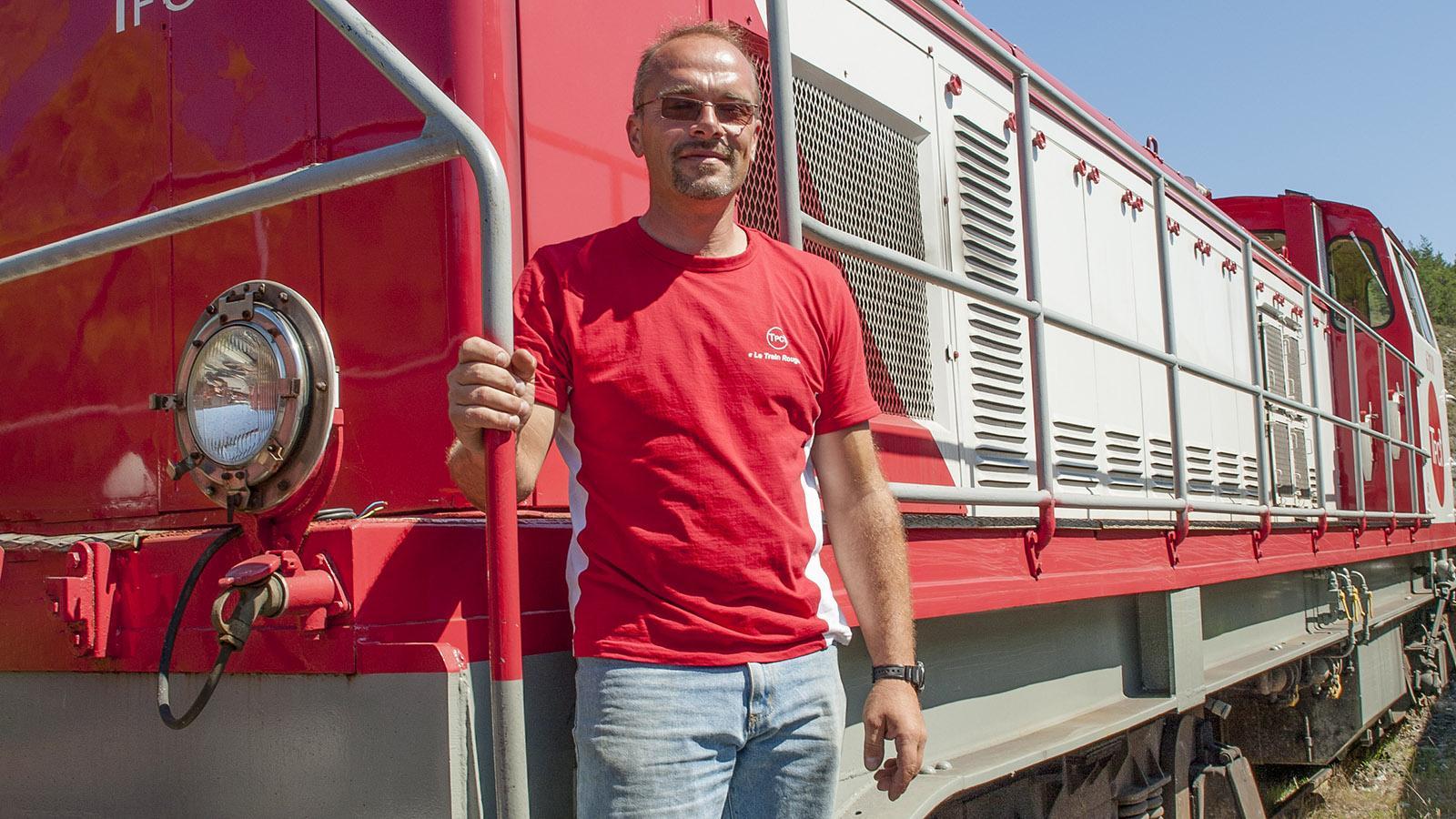Lokführer Lionel vom Train Rouge. Foto: Hilke Maunder