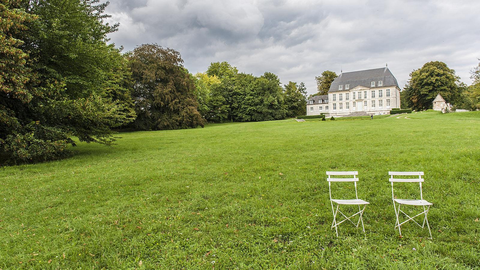 Jumièges: das Abtgebäude. Foto: Hilke Maunder