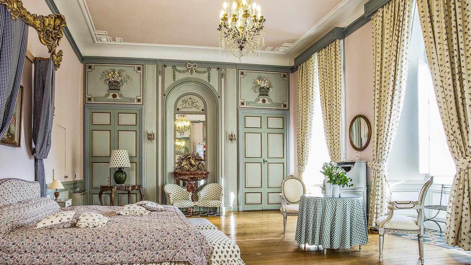 Rochegude: Château de Rochegude, Zimmer. Foto: Hilke Maunder