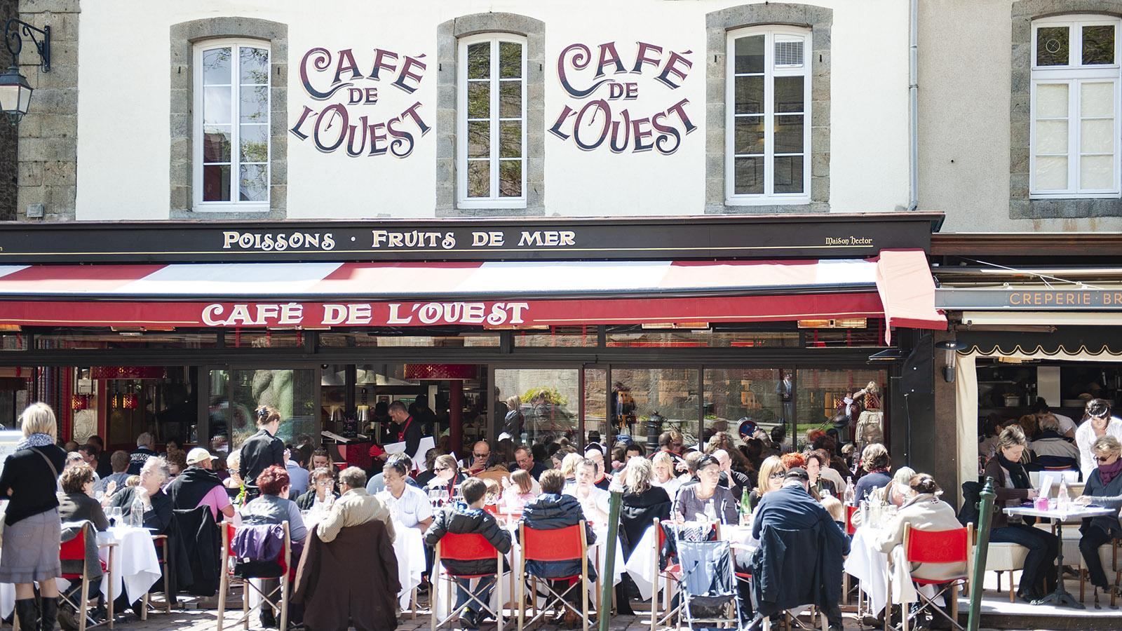 Eine Institution: das Cafés des Westens von Saint-Malo.