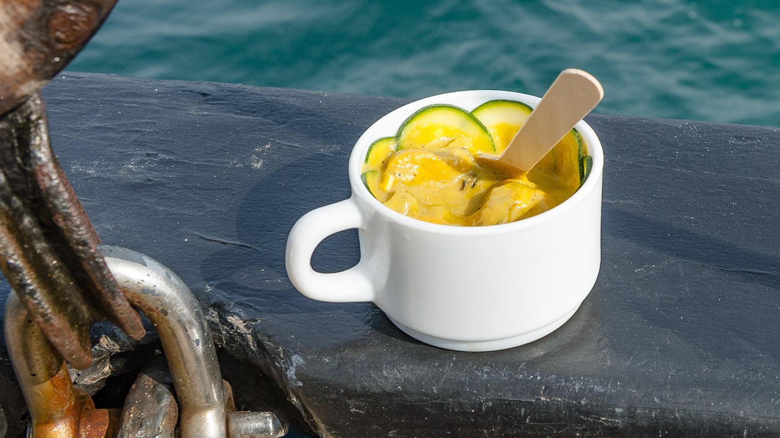 Seeräuber-Curry mit Bouchot-Muscheln. Foto: Hilke Maunder