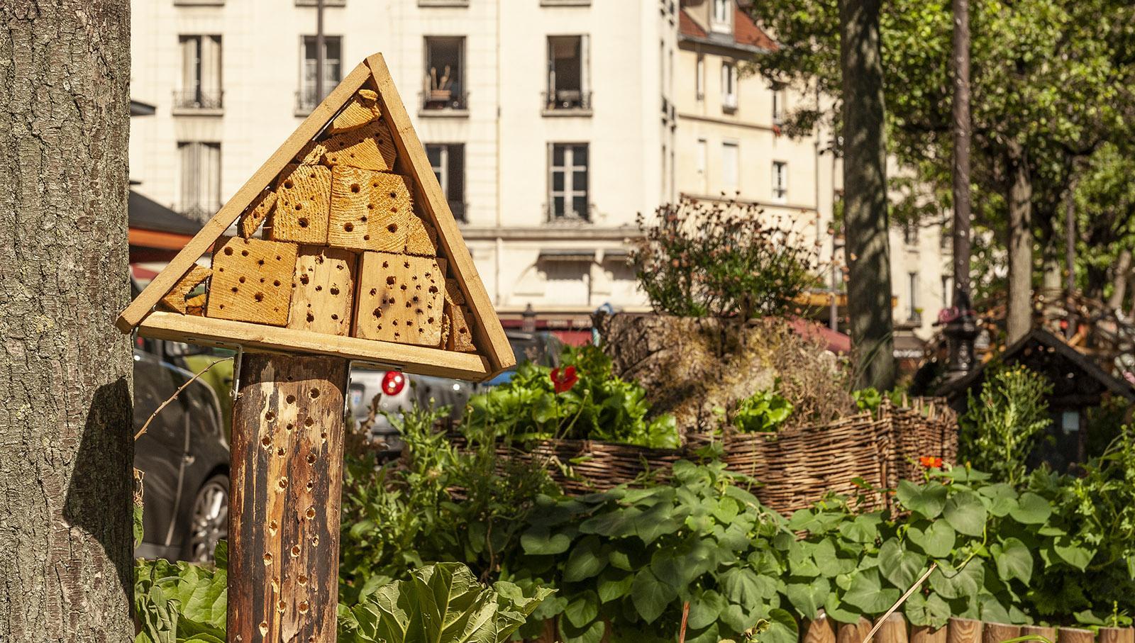Alle Wetter. Insektenhotel in Paris. Foto: Hilke Maunder