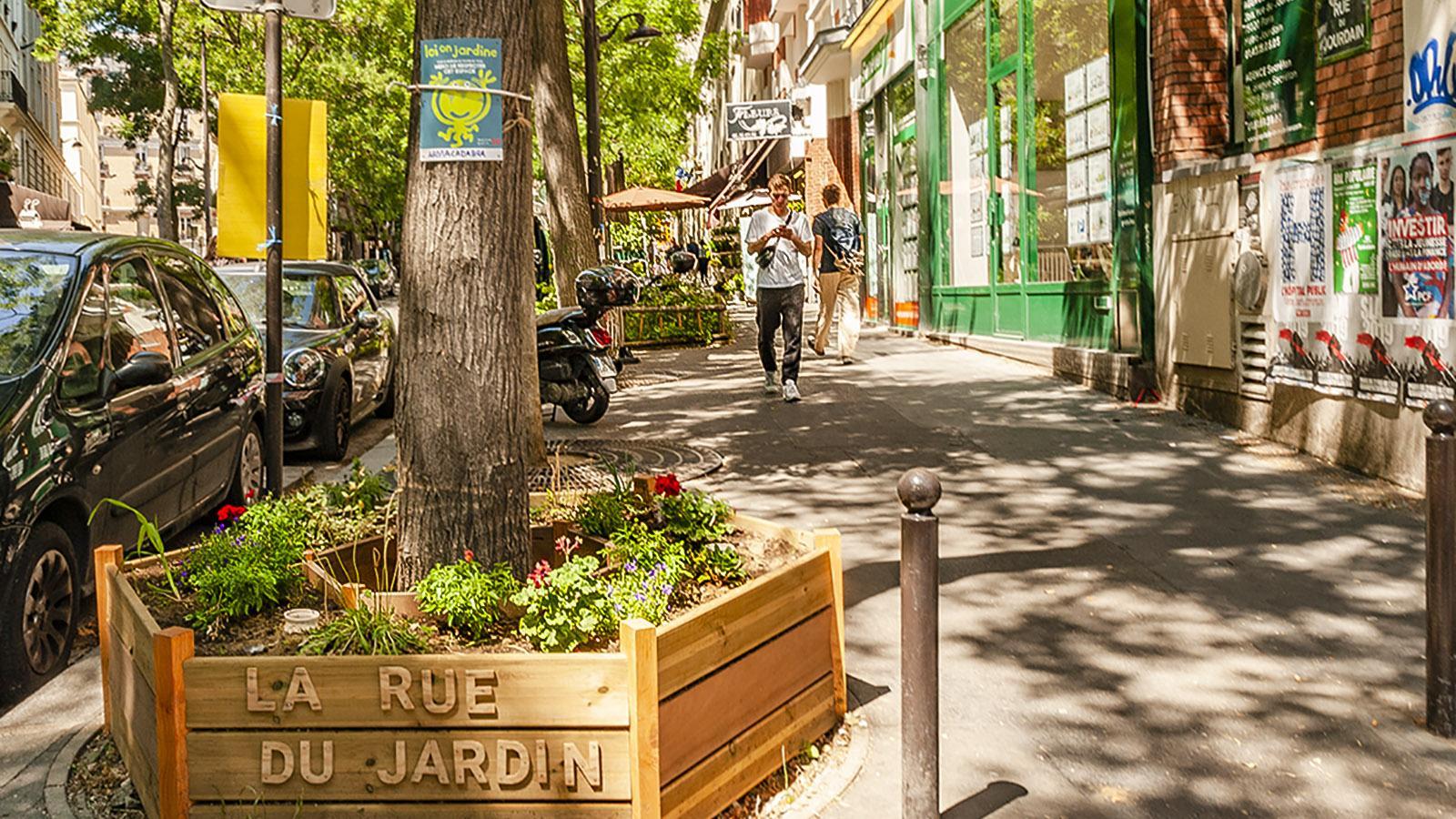 Alle Wetter: Rue du Jardin in Paris. Foto: Hilke Maunder