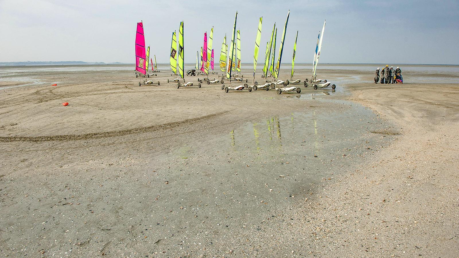 Strandsegeln in Saint-Hirel. Foto: Foto: Hilke Maunder