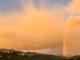 Alle Wetter: Regenbogen über Caudiès. Foto: Hilke Maunder