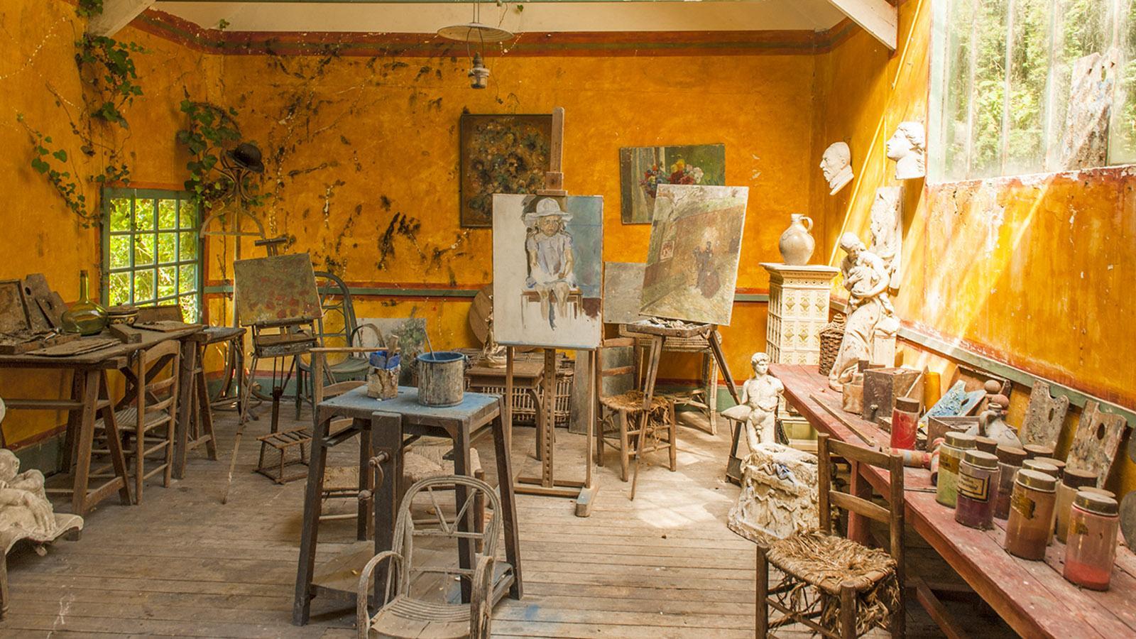 Monet in Giverny: das Atelier der amerikanischen Impressionisten im Garten des Hôtel Baudy. Foto: Hilke Maunder