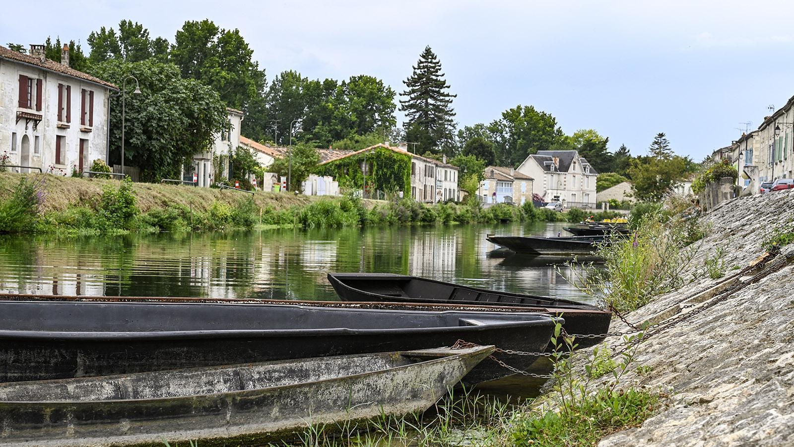 Touristische Hochburg des Marais Poitevin: Coulon. Foto: Hilke Maunder