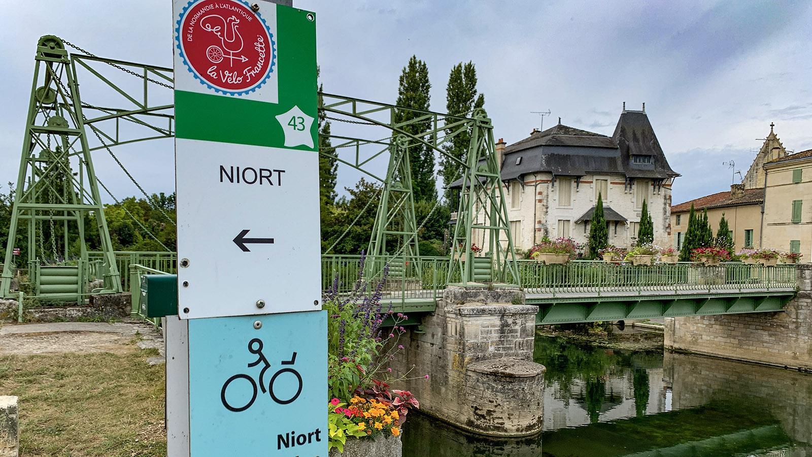 Mitten durch den Marais Poitevin führt bei Magné die Radwanderroute La Francilienne. Foto: Hilke Maunder
