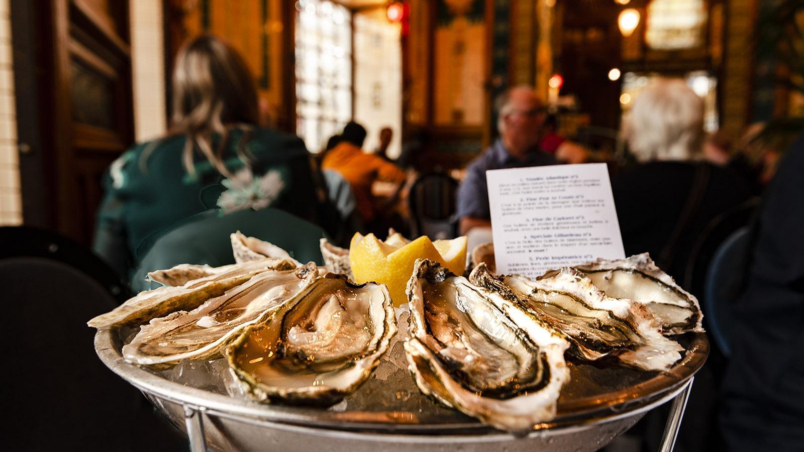 Nantes: Austern satt in Le Cigale. Foto: HIlke Maunder