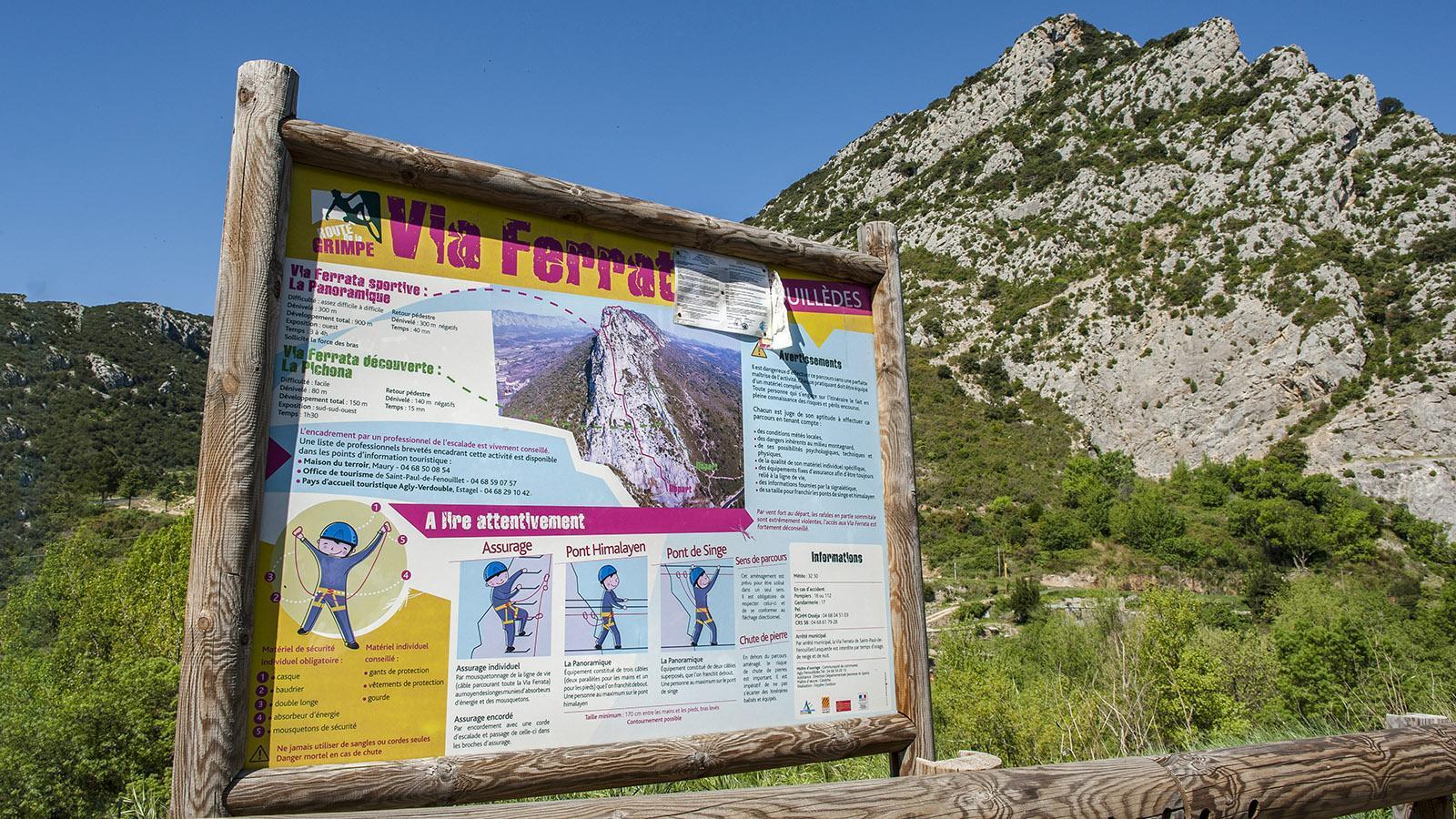Outdoor in Okzitanien:Via Ferrata. Foto: Hilke Maunder