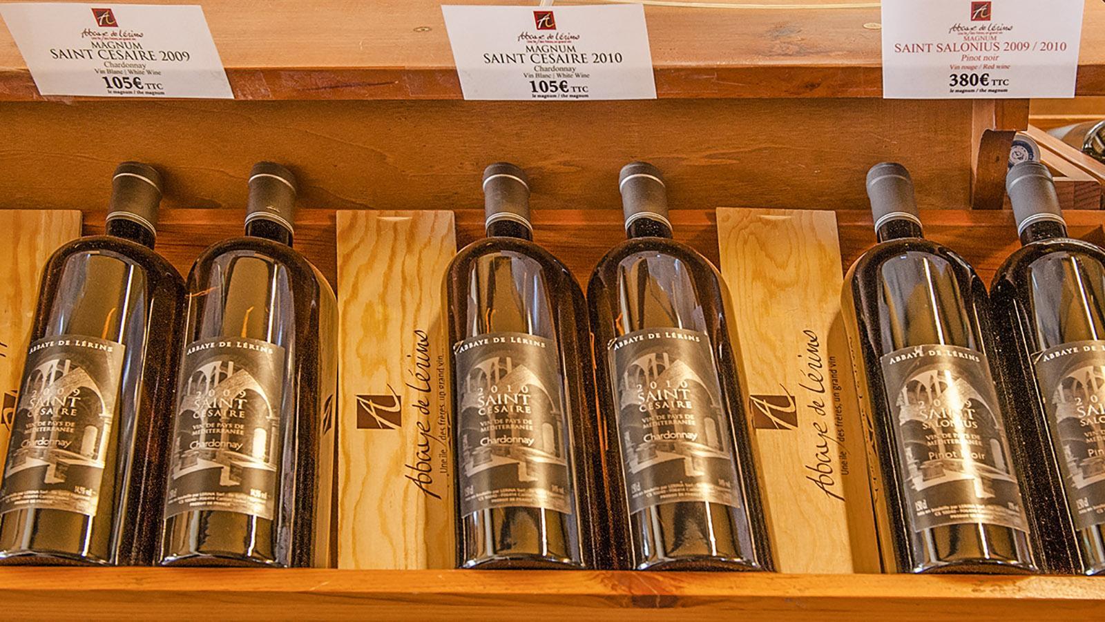 Die Weine der Zisterzienser von Saint-Honorat haben ihren Preis. Foto: Hilke Maunder