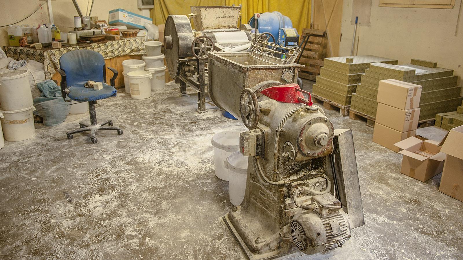 Savon de Marseille: die Werkstatt der Savonnerie de Licorne in Marseille. Foto: Hilke Maunder