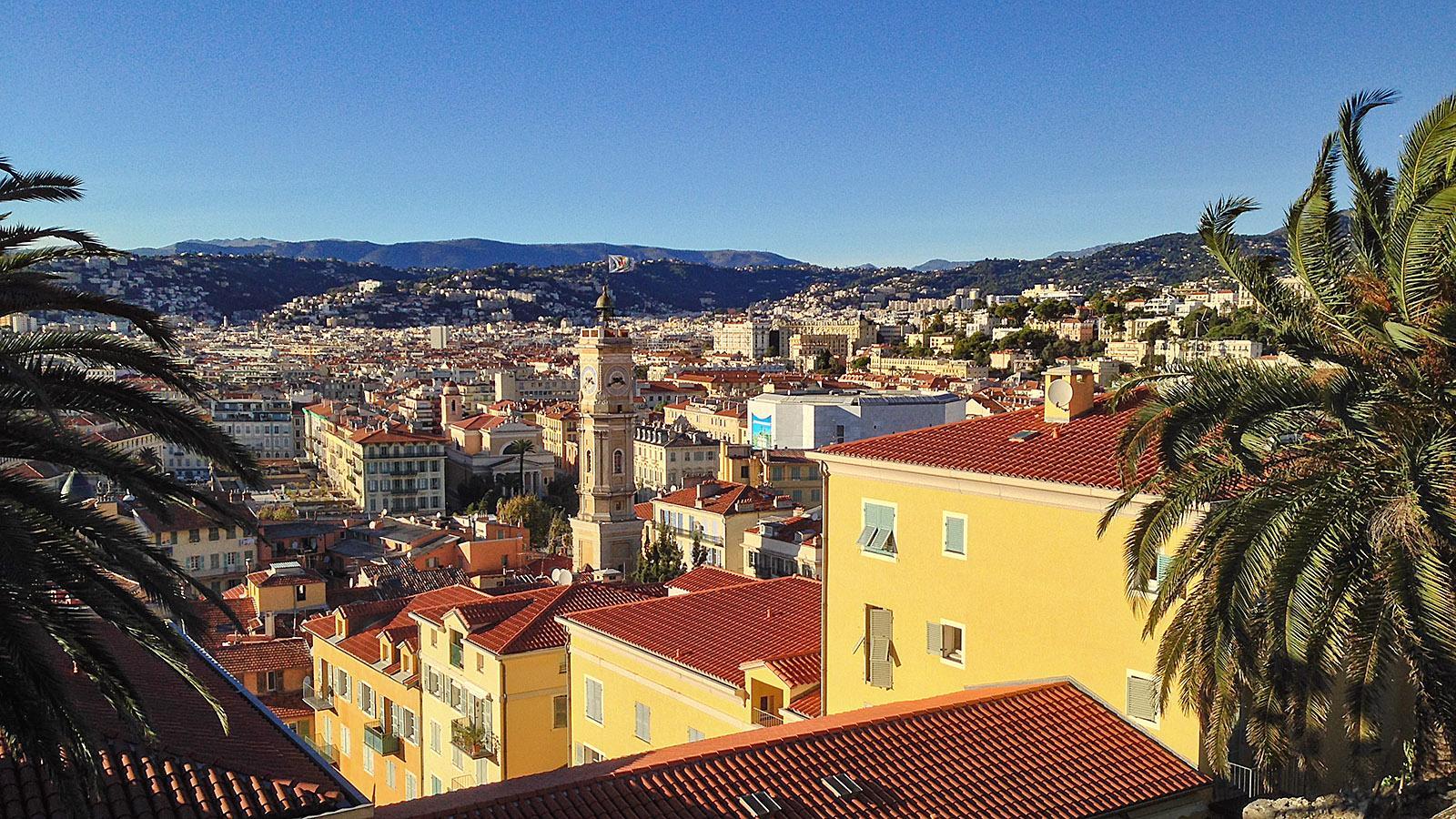 Blick auf die Altstadt vom Schlossberg in Nizza. Foto: Hilke Maunder