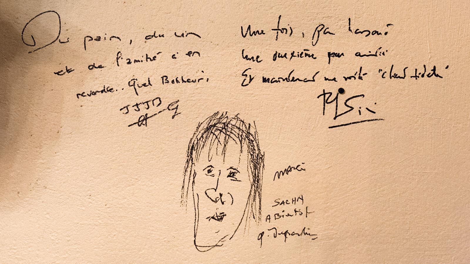 Gérard Depardieu ist Stammgast bei Sihem und Sacha von La Marmotte. Foto: Hilke Maunder