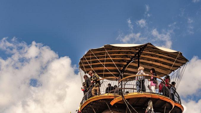 Île de Nantes: Le Grand Éléphant. Die Aussichtsplattform. Foto: Hilke Maunder