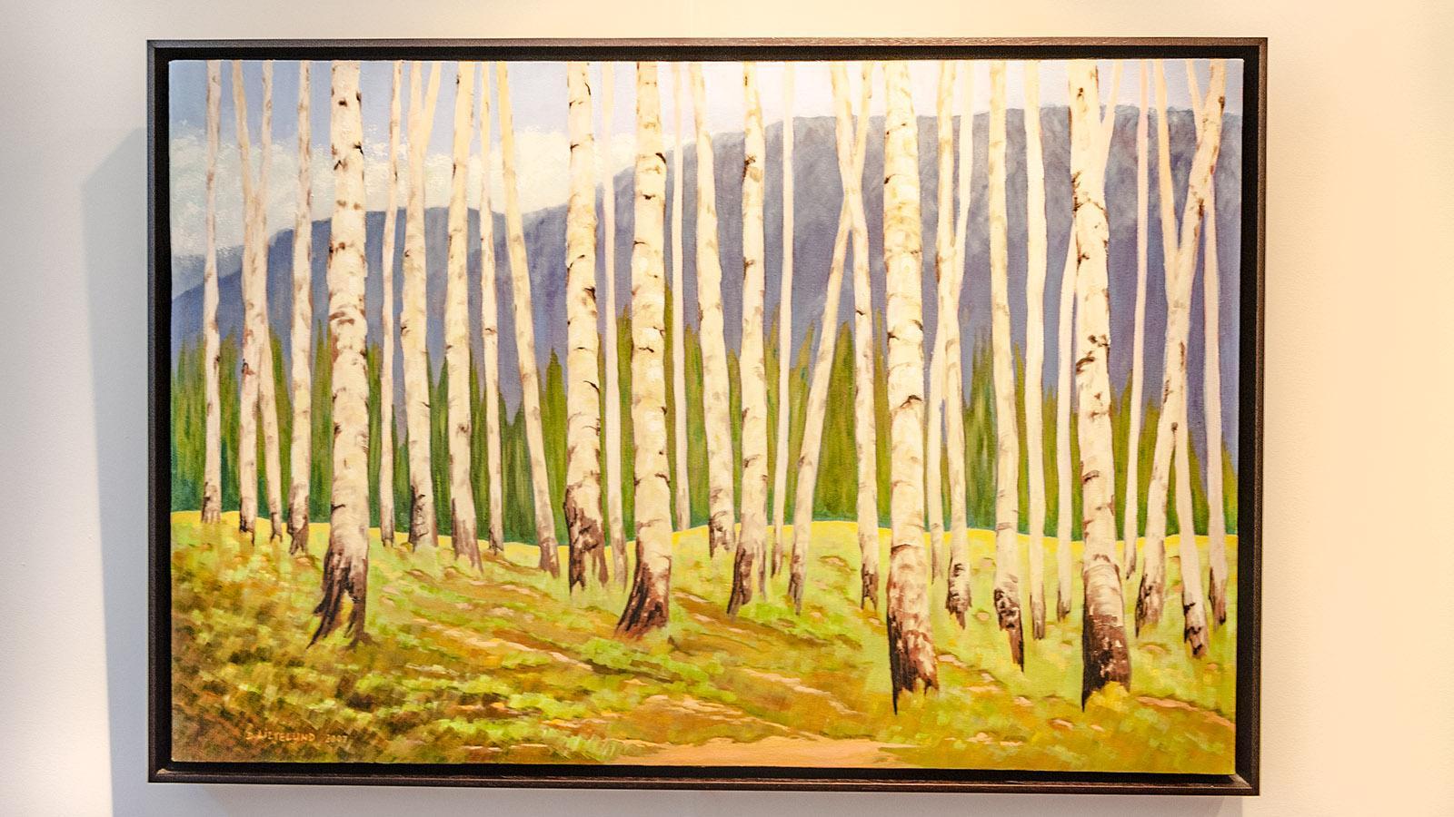 Bugarach: ein Ölbild von Diane Liljelund. Foto: Hilke Maunder