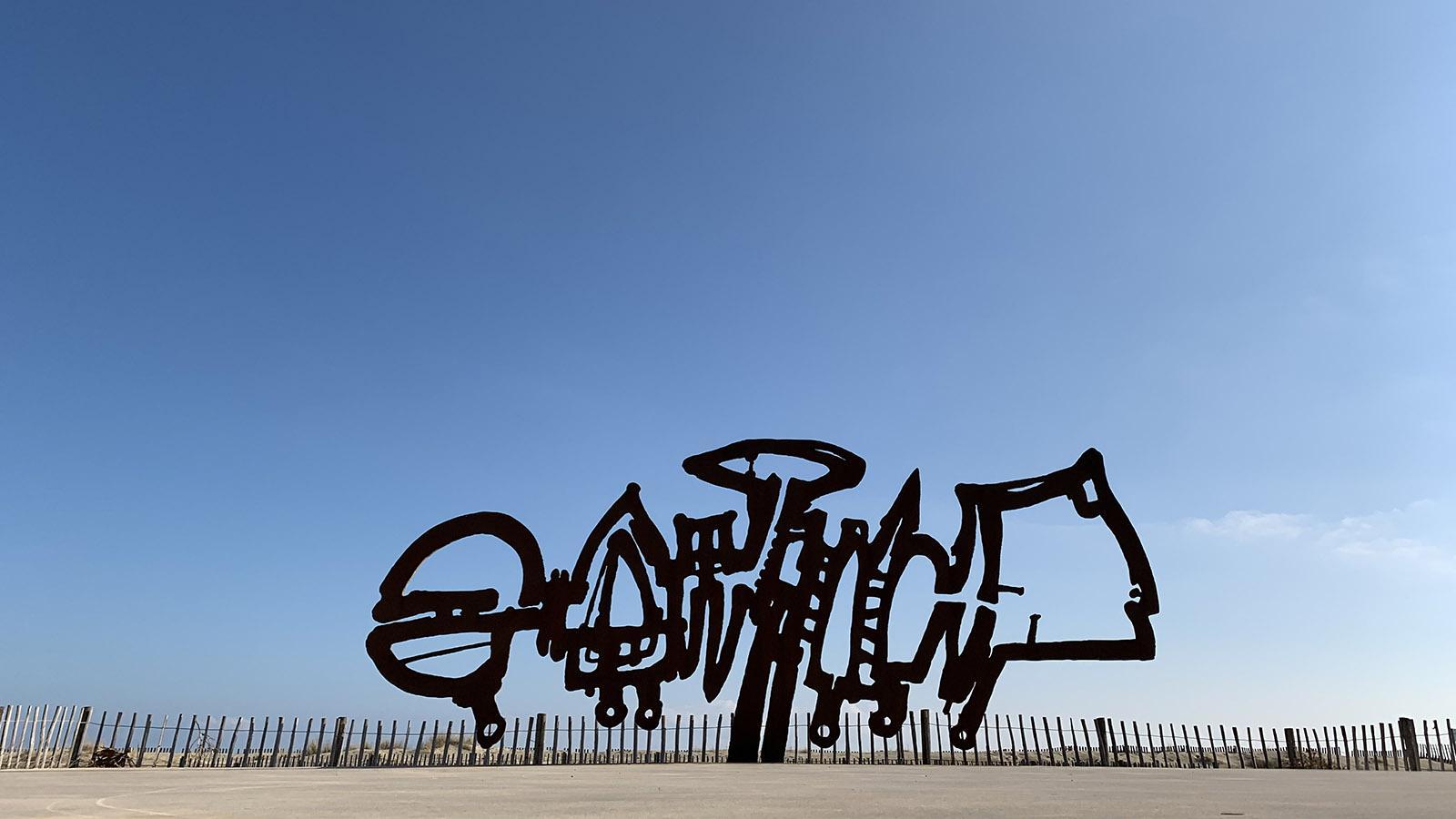 Floride française: Skulptur von Patrick Chappert-Gaujal an der Promenade von Port-Barcarès. Foto: Hilke Maunder