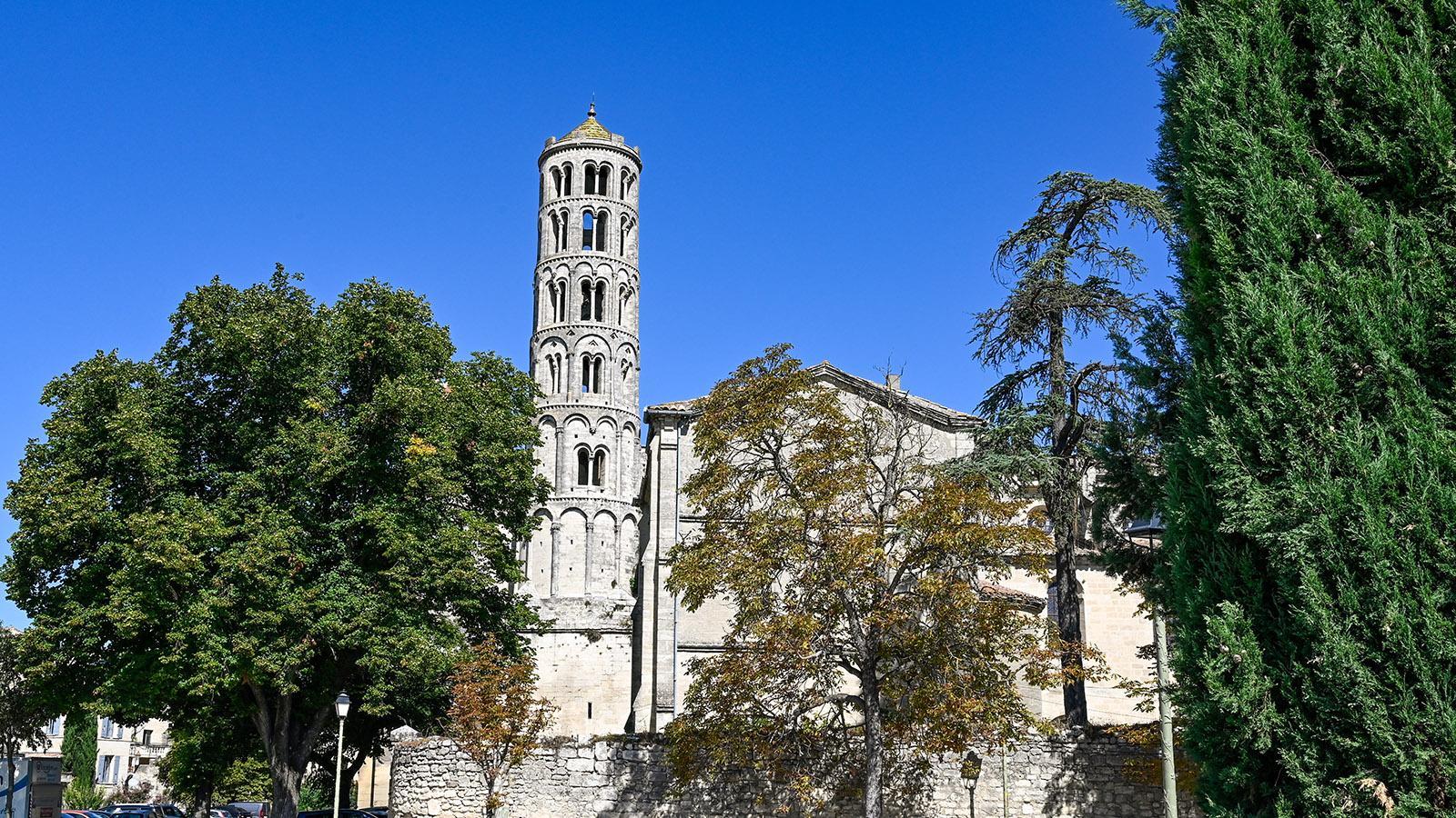 Uzes: Cathédrale Saint-Théodorit und Tour Fenestrelle. Foto: Hilke Maunder
